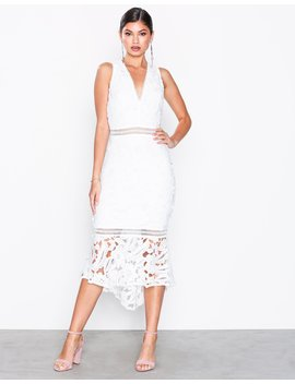 Crochet Fishtail Midi Dress by Missguided