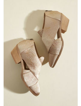Repping Radiance Cutout Bootie In Golden Glow by Modcloth