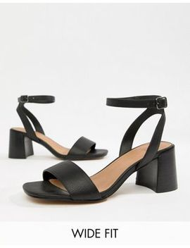 Asos Design Wide Fit Tyrell Heeled Sandals by Asos Design