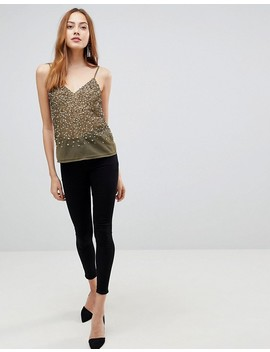 Asos Tall Cami Top With Sequin Embellishment by Asos Tall
