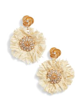 Pinwheel Straw Earrings by Kitsch