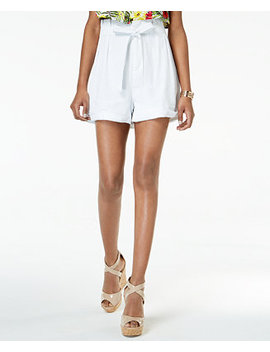 Juniors' Rolled Hem Paperbag Shorts by Xoxo