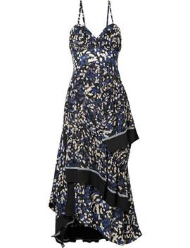 Pleated Printed Silk Crepe De Chine Midi Dress by 3.1 Phillip Lim