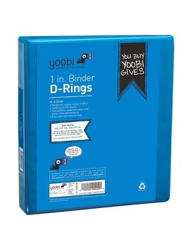 """Yoobi™ 1"""" 3 Ring Binder With Easy Open D Ring, 8.5"""" X 11"""" by Yoobi"""