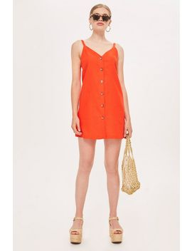 Tall Button Mini Slip Dress by Topshop