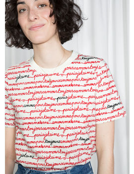 Allover Parisian Calligraphy Tee by & Other Stories