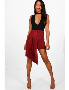 Slinky Extreme Drape Mini Skirt by Boohoo