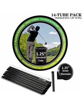 """Player Supreme Golf Tubes/Dividers, 14 Pack, Standard, 1 1/4"""" Dia. by Player Supreme"""