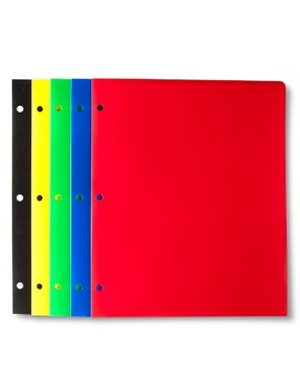 Plastic Folders, 2 Pocket, 5ct, Multicolor   Up&Up™ by Up & Up™