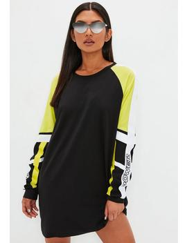 Black Fluro Sweater Dress by Missguided