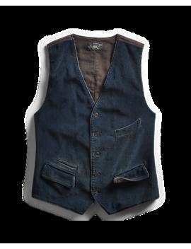 Indigo Corduroy Vest by Ralph Lauren