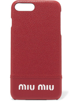 Printed Textured Leather I Phone 8 Plus Case by Miu Miu
