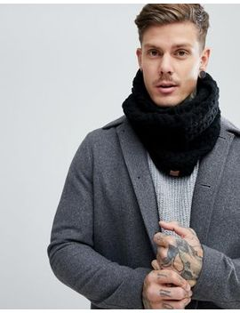 Dead Vintage Cable Snood Black by Asos