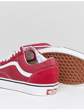 Vans Old Skool Sneakers In Red Va38 G1 Q9 U by Vans