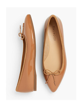 Poppy Ballet Flats   Patent Leather by Talbots