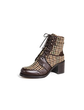 Leo Lace Up Plaid Boots by Tabitha Simmons