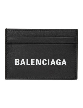 Black Everyday Logo Card Holder by Balenciaga