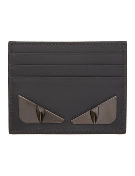Grey 'bag Bugs' Card Holder by Fendi