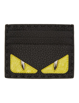 Black Croc 'bag Bugs' Card Holder by Fendi