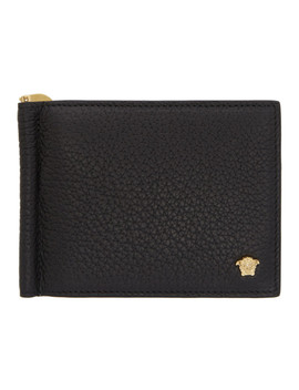 Black Slim Medusa Wallet by Versace