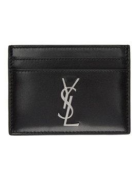 Black Monogramme Card Holder by Saint Laurent