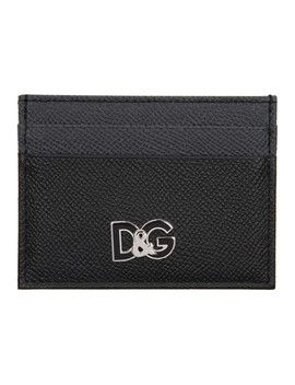 Black & Grey Logo Card Holder by Dolce & Gabbana