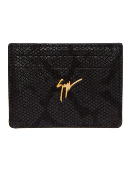 Black Suede Hooligan Card Holder by Giuseppe Zanotti