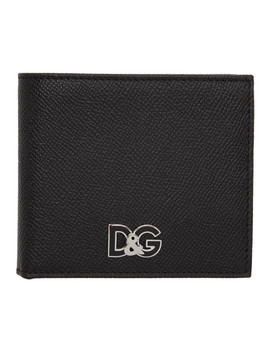Black Grained Logo Wallet by Dolce & Gabbana