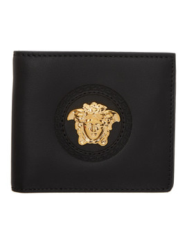 Black Medusa Bifold Wallet by Versace