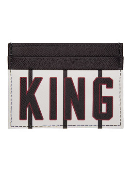 Black & White 'king' Card Holder by Dolce & Gabbana