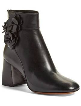 Tory Burch Blossom 70mm Booties Black Size 8 M Retail $450 by Tory Burch