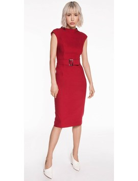 Cherry Belted Pencil Dress by Cue