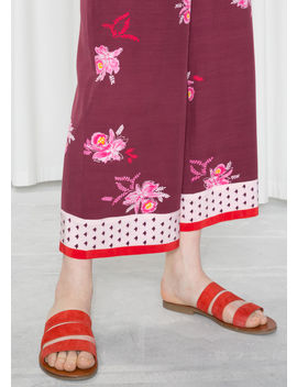 Wide Floral Print Trousers by & Other Stories