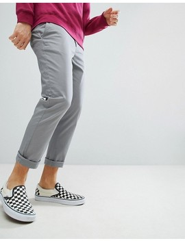 Asos   Pantalon Chino Court Et Slim   Gris by Asos