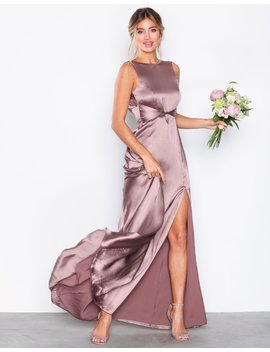V Back Satin Gown by Nly Eve