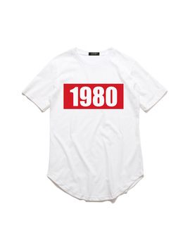Summer Women's Men T Shirt Year 1988 1980 1993 1999 Fashion Short Sleeve Arc Hem Loose Large Size Casual Long T Shirt by Zsiibo
