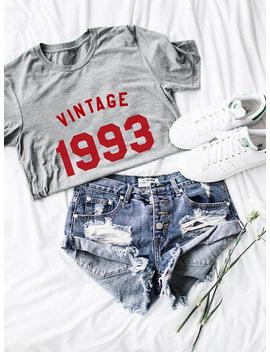 Hillbilly Korean Vintage 1993 Printed Women Tshirts Summer Top Shirt Plus Size Women Clothing Tshirt Harajuku Clothes Tumblr New by Hillbilly