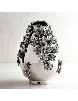 Silver Flower Vase by Pier1 Imports