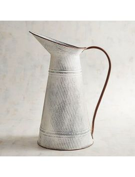 Ribbed Metal Pitcher With Handle by Pier1 Imports