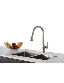 "32"" Undermount Double Bowl 16 G Stainless Steel Sink With Grids S by Stylish"