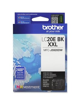 Brother Lc20 Ebk In Kvestment Super High Yield Ink, Black by Brother