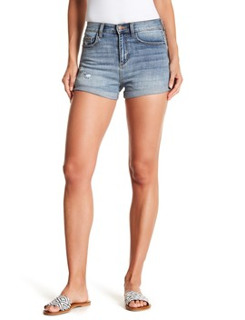 High Waist Rolled Shorts by Sp Black