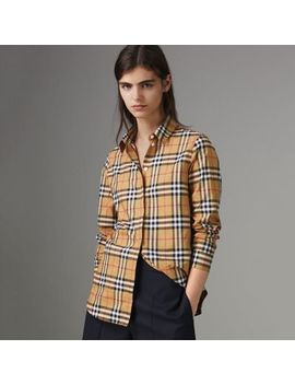 Vintage Check Cotton Shirt by Burberry