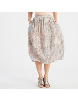 Blush Pink Printed Bubble Skirt With Pockets by World Market