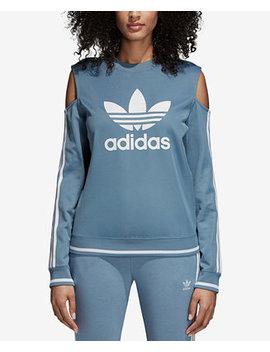 Active Icons Cold Shoulder Sweatshirt by Adidas Originals
