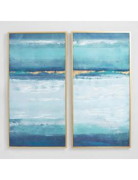 Blue Crush By Elinor Luna Diptych Wall Art Set Of 2 by World Market