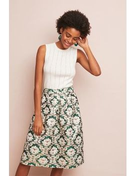Jacquard Midi Skirt by Current Air