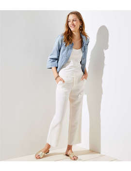 Petite Frayed Wide Leg Pants by Loft