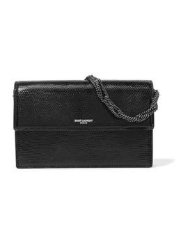 Pochette Small Lizard Shoulder Bag by Saint Laurent