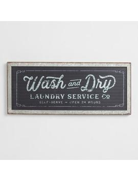 Wash And Dry Galvanized Metal Sign by World Market